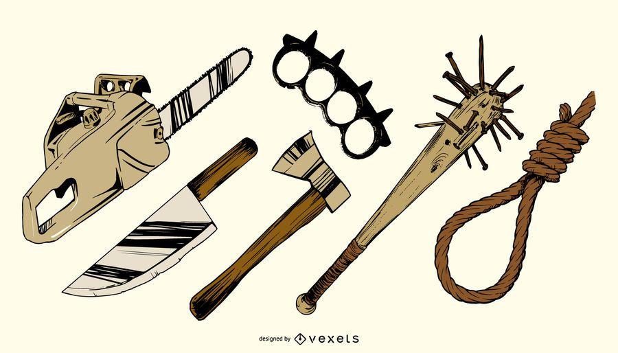 Murder Weapons Vector Graphics