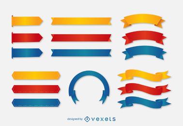 Conjunto de cinta de etiqueta de color