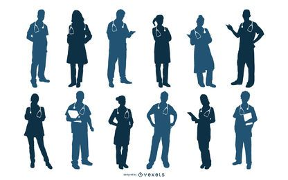 Medical Silhouettes Vector Set