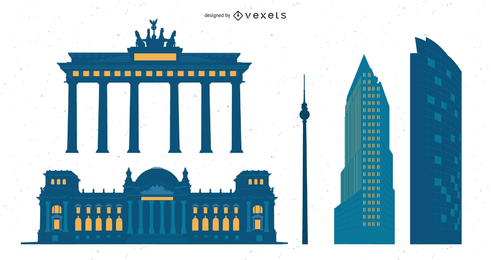 Gráficos vetoriais de cidades