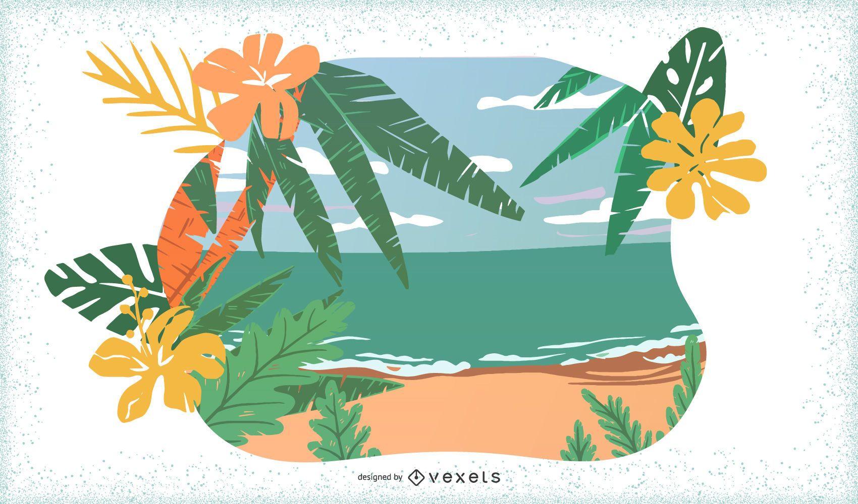 8 Tropic Islands Vectors