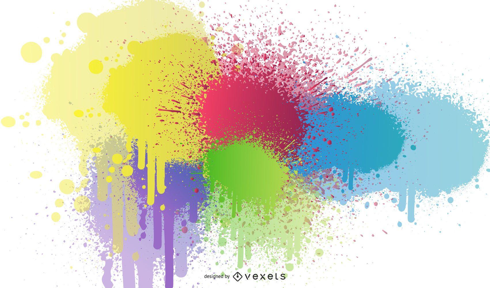 Diseño de salpicaduras de pintura