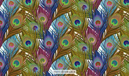 Vector de plumas de pavo real