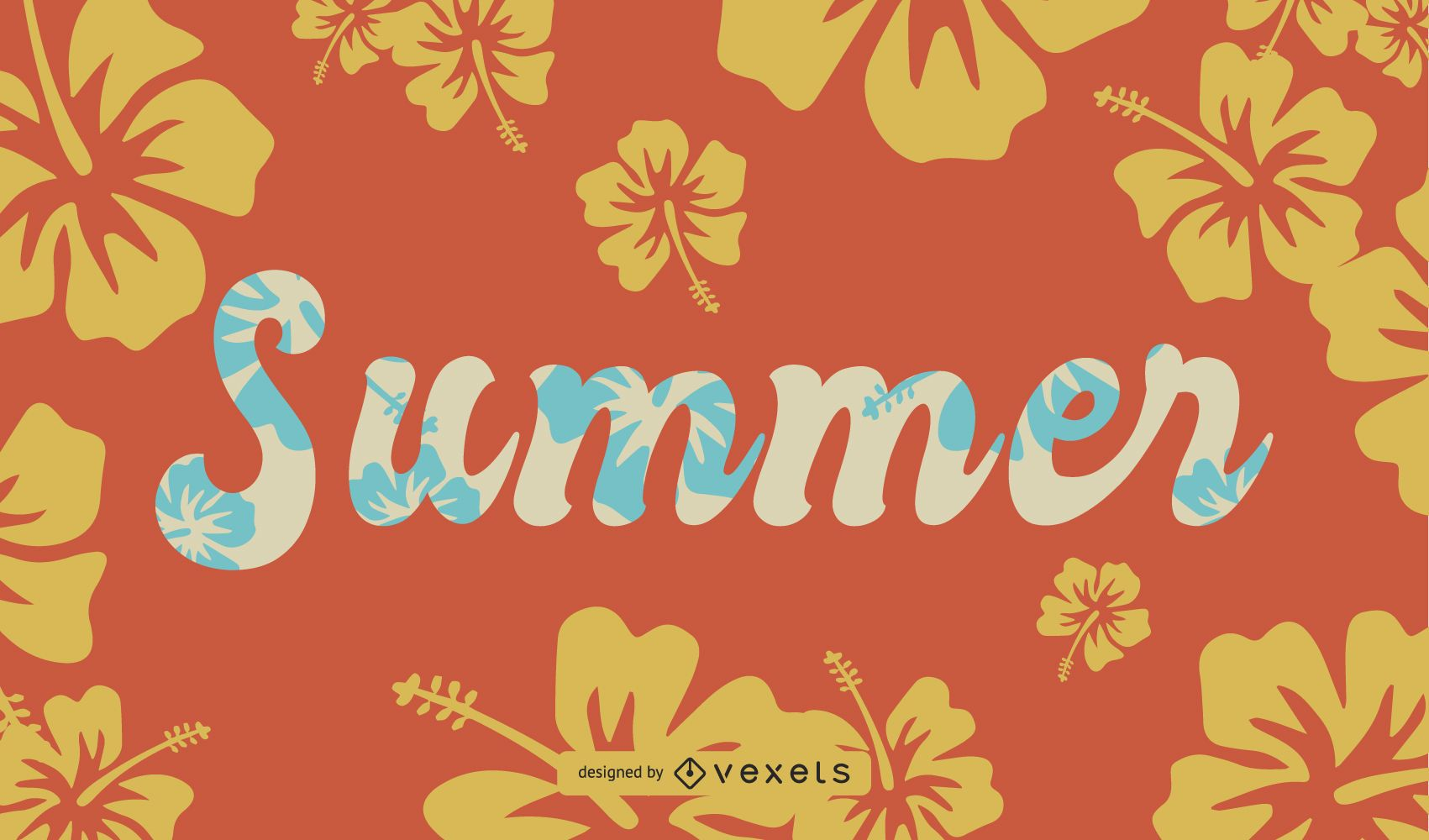 Summer Theme Font Design Vector