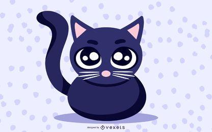 Clipart de gato preto bonito