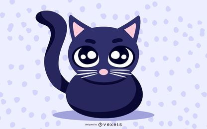 Lindo gato negro clip art