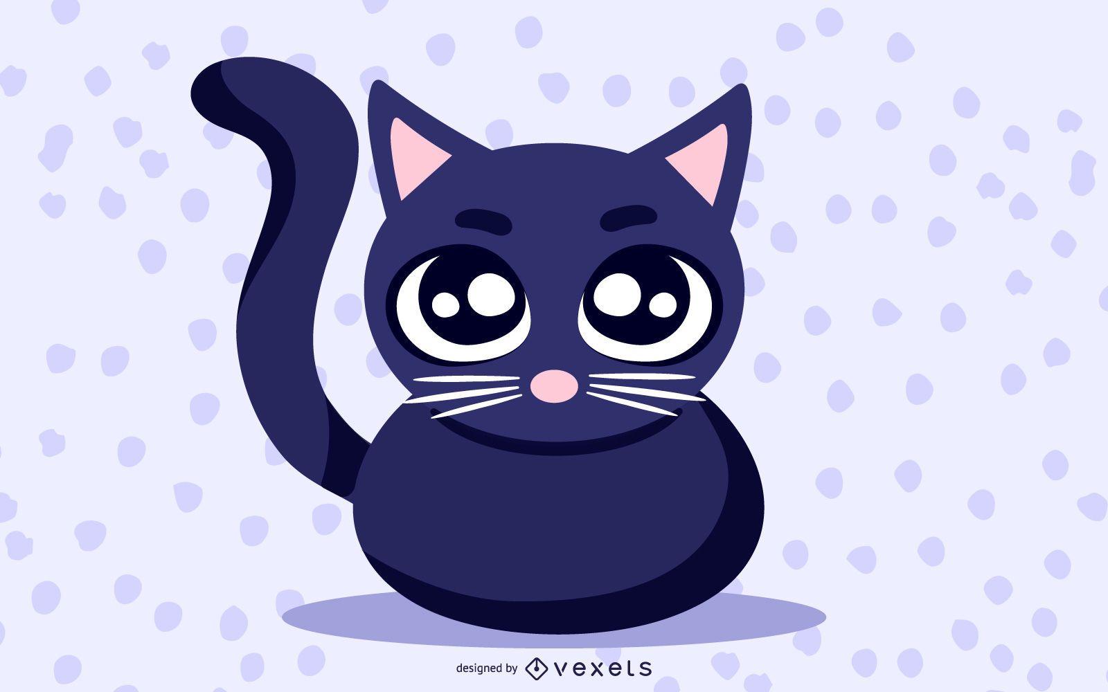 Clip Art Lindo Gato Negro