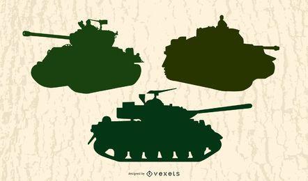 Vector de equipo militar