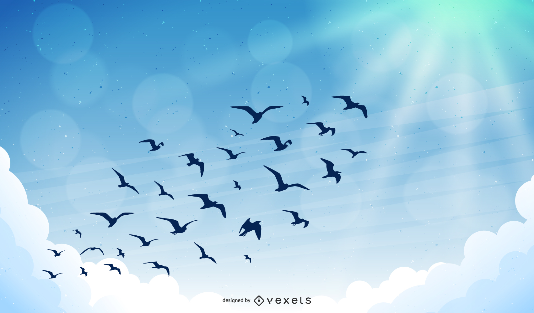 Birds In The Sky Vector