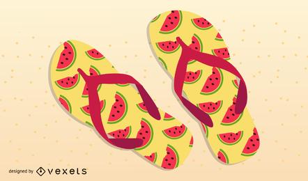Sandálias de Verão 01 Vector
