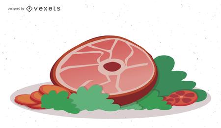 Vektor frisches Fleisch