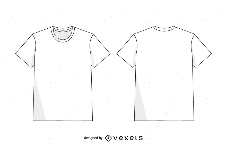 hombres camiseta plantilla vector