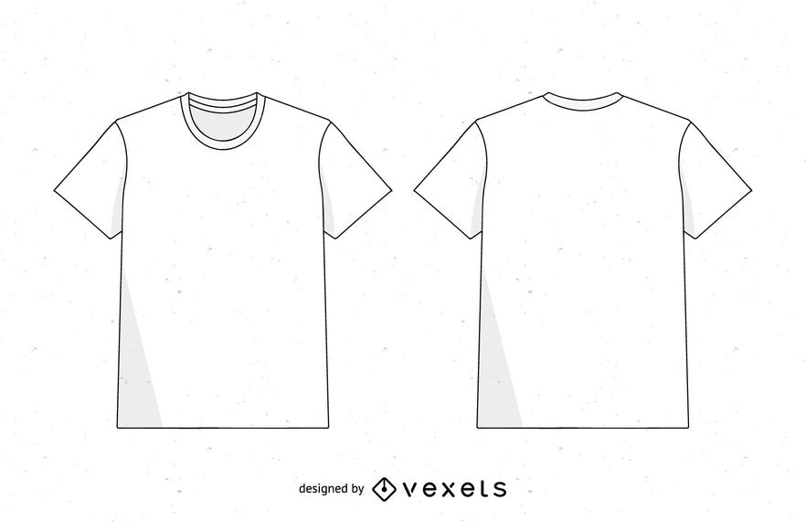 Vector de plantilla de camiseta de los hombres