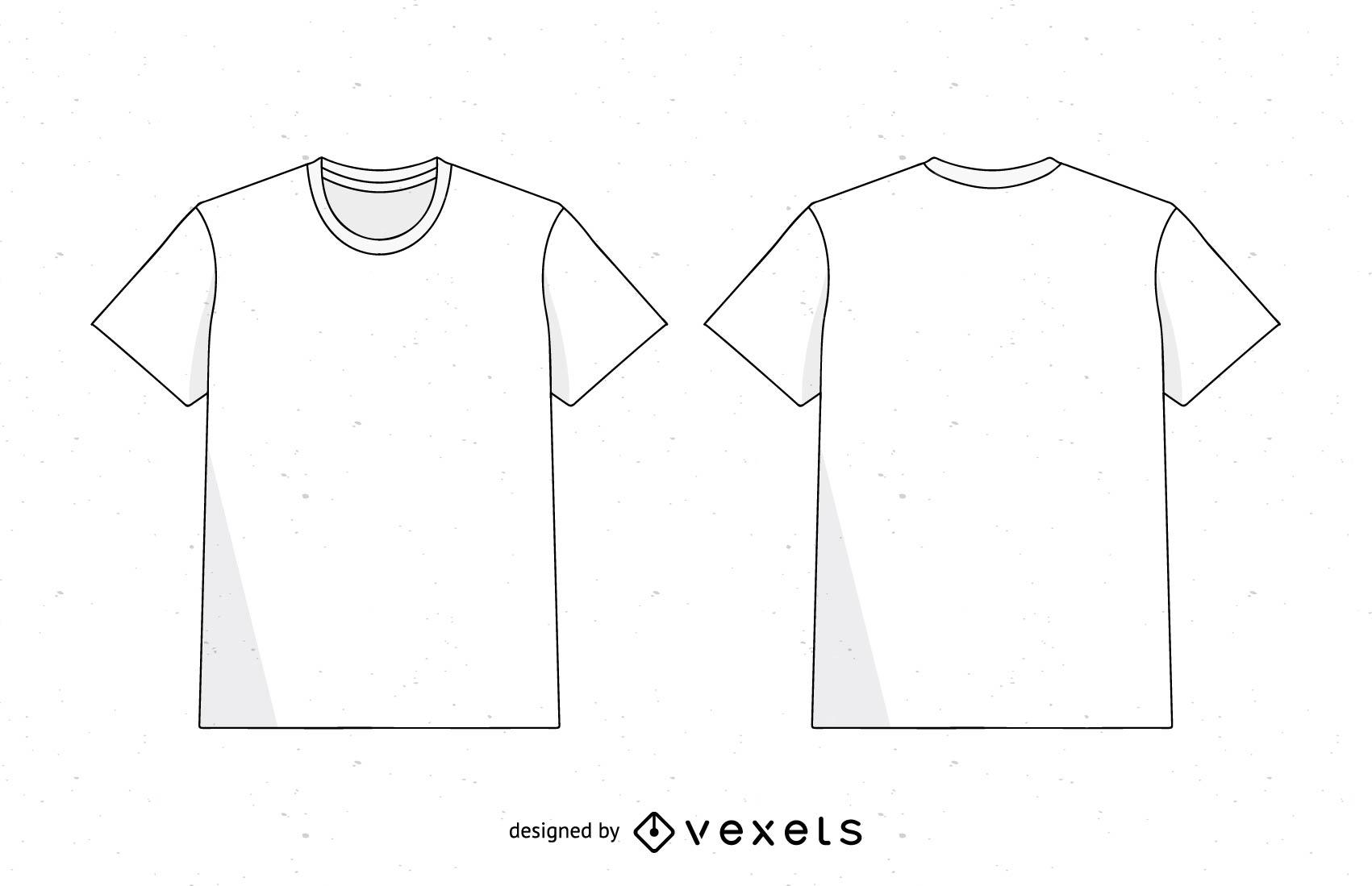 Camiseta masculina branca Vector