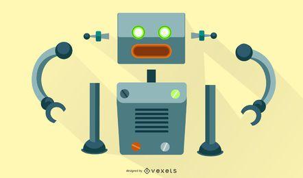 Kit de montagem de vetor de robô
