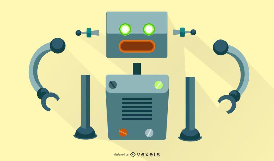 Roboter-Vektor-Montagesatz