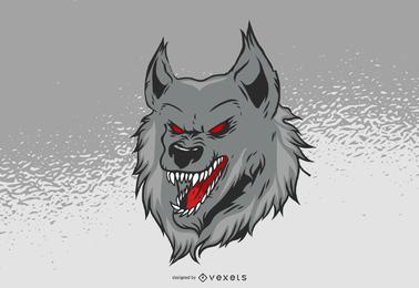 Vector libre del lobo del Hellhound