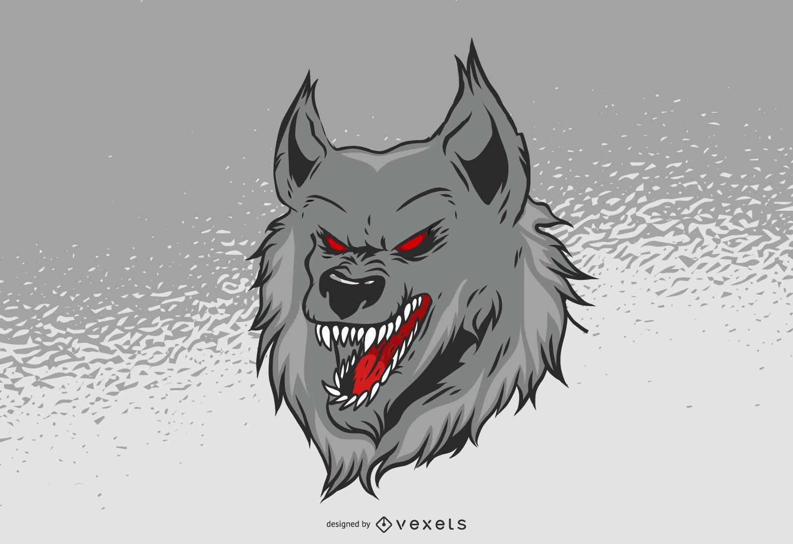 Vetor gr?tis Hellhound Wolf
