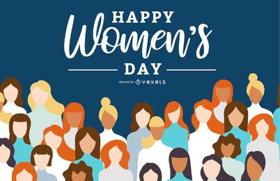 38 Frauentag-Themenvektor 5