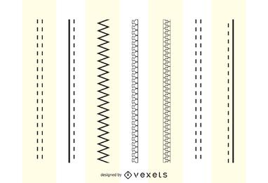 Diseño de moda Cepillos Cremalleras Costura