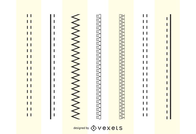 Diseño de moda Pinceles Cremalleras Costuras