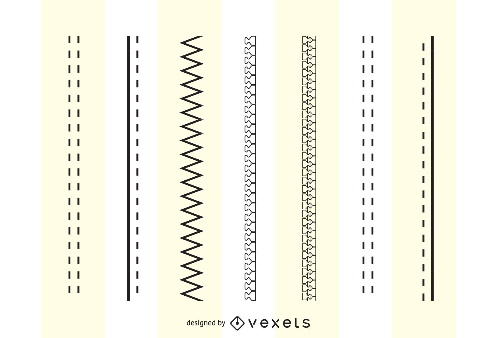 Fashion Design Brushes Zippers Stitching