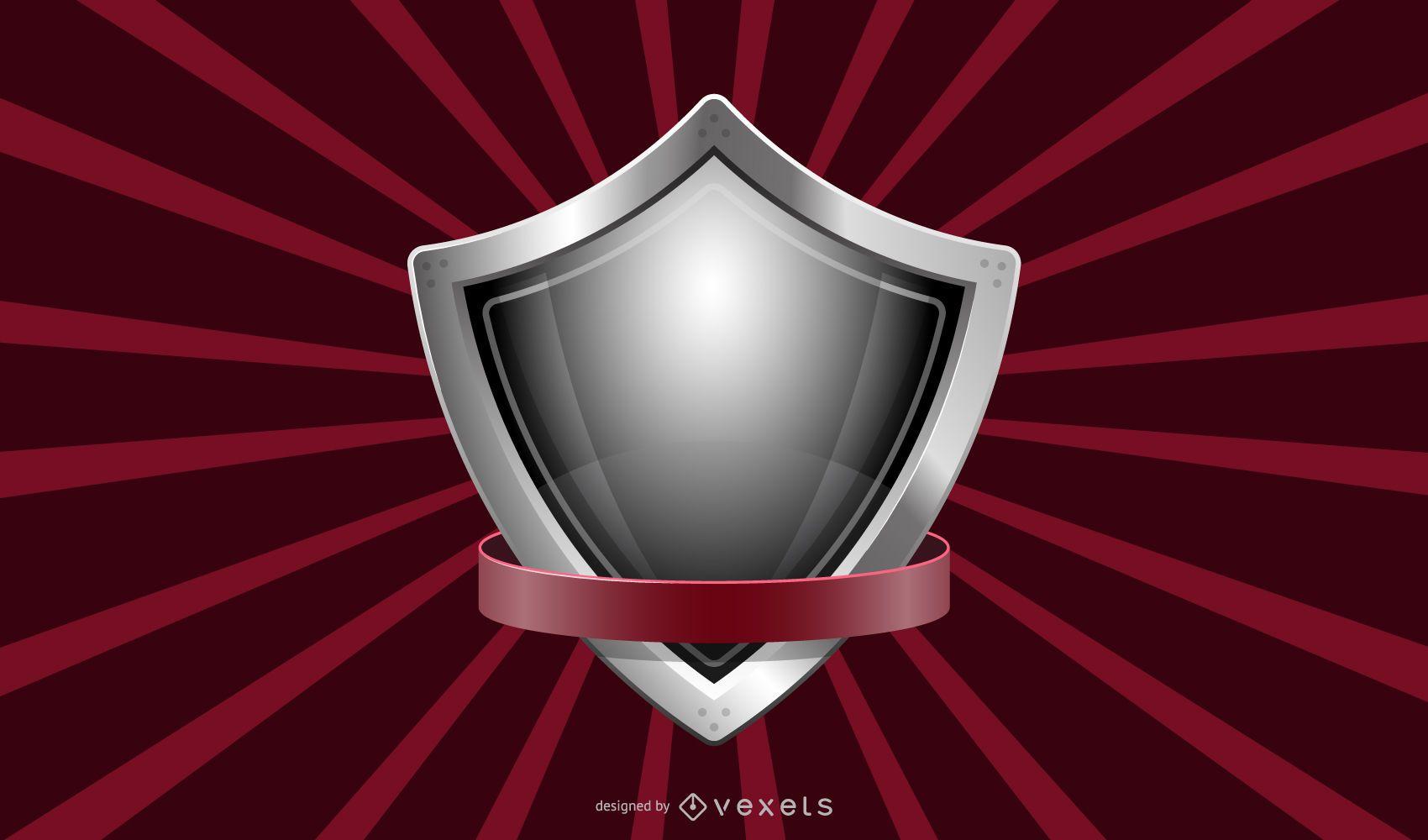 Diseño de fondo de escudo metálico
