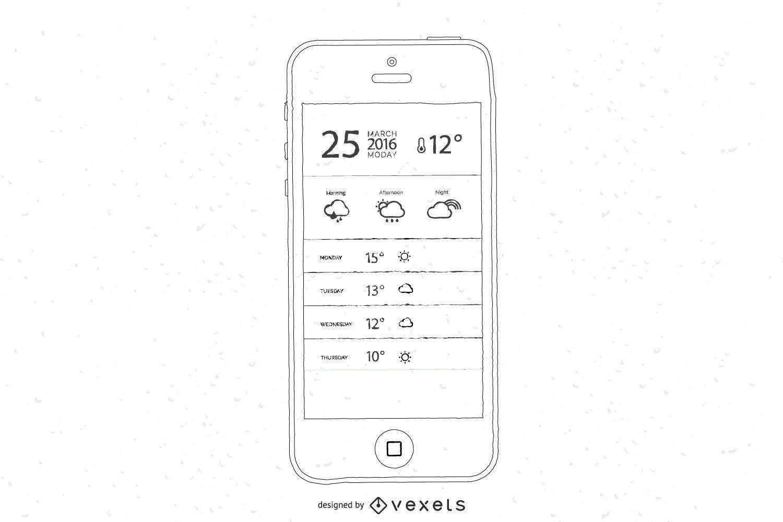 Vectores de teléfonos inteligentes dibujados a mano libre