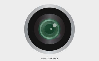 Ilustración de la lente de la cámara