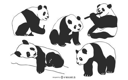 Vetores de panda