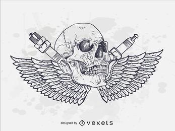 Cráneo de la motocicleta