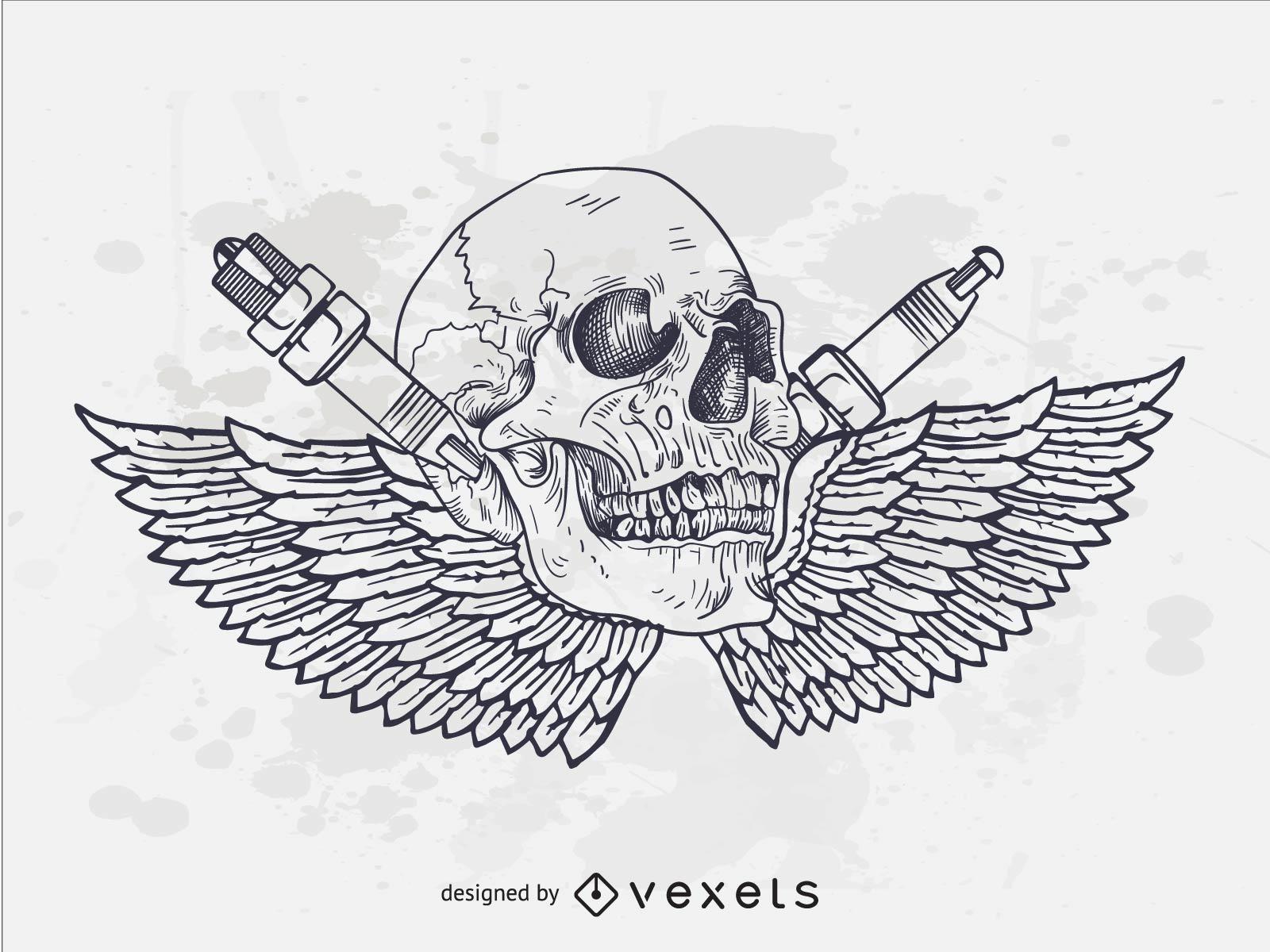 Motorcycle Skull