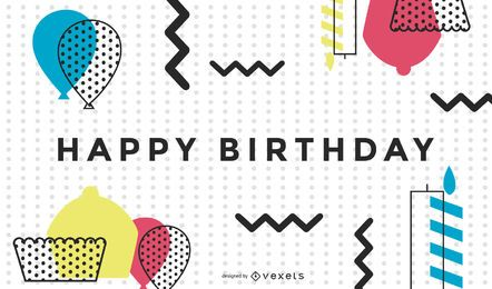 Birthday Card 02 Vector