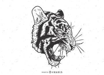 O tigre imagem 14 Vector
