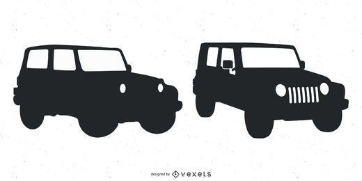 Vectores de jeep