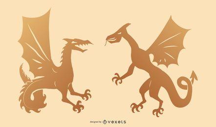 2 vectores de dragones extranjeros