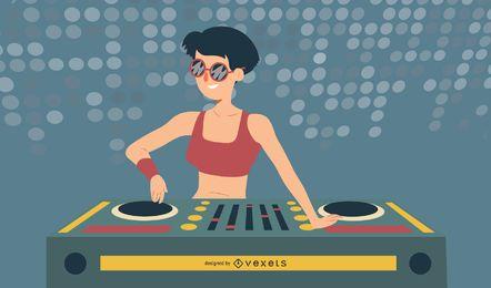 Diseño de DJ de música tecno.