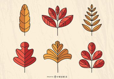 Sueño de vector de hojas de otoño