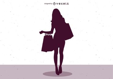 Weiblicher Mode-Illustrator-Vektor 01