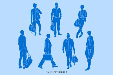 Geschäfts-Mann-Grafiken