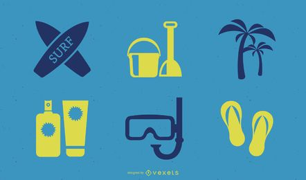 Summer Elements Icon Set