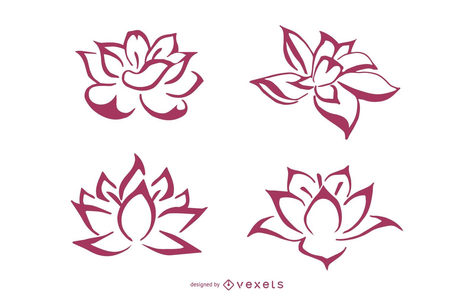 Producción de asesino de dibujo lineal de loto estilo Zhang Daqian