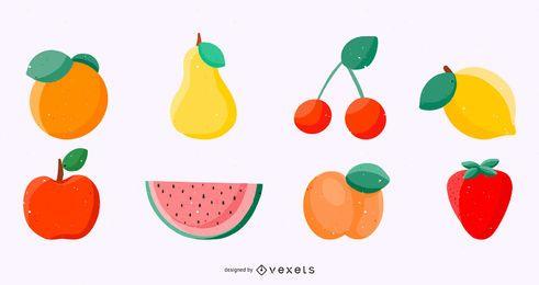 Satz von Obst-Vektorgrafiken