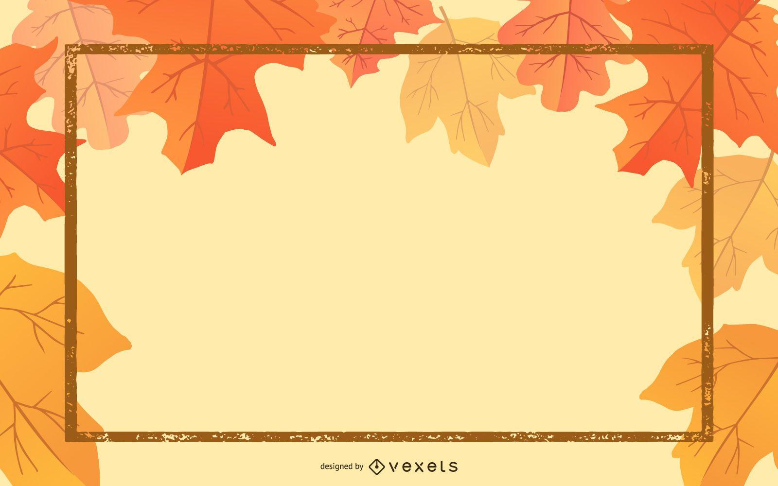 Hermosa tarjeta de hojas de otoño 01 Vector