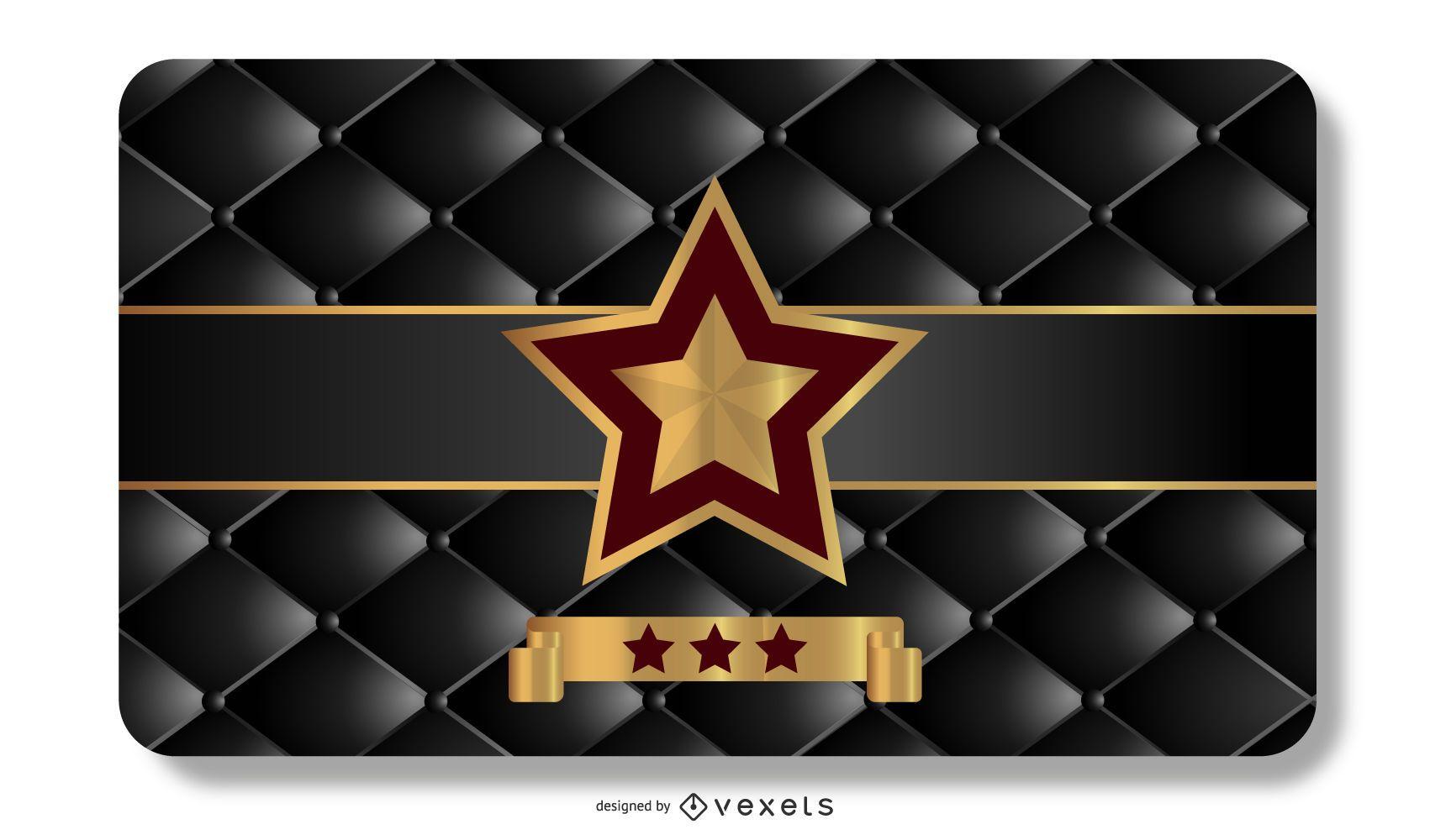 Plantilla de tarjeta VIP estrella