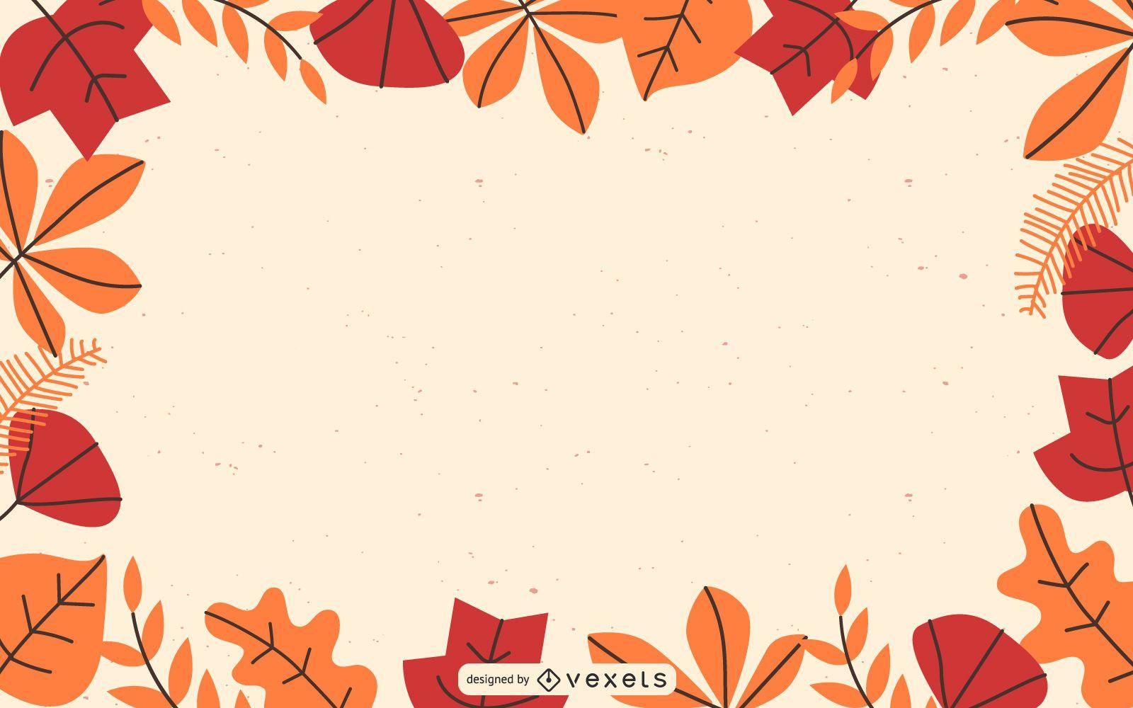 Beautiful Autumn Leaves Card Vector