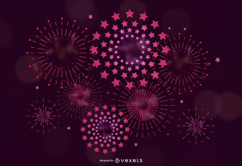 5 Vector Brilliant Fireworks