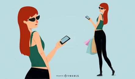 Ilustrador de belleza de moda 04 Vector