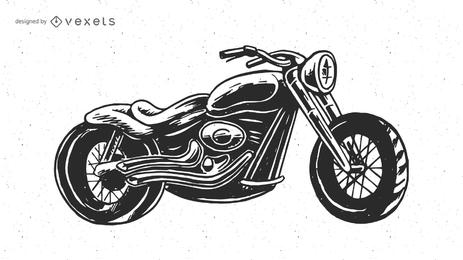Vetor de motocicleta de quadrinhos desenhos animados
