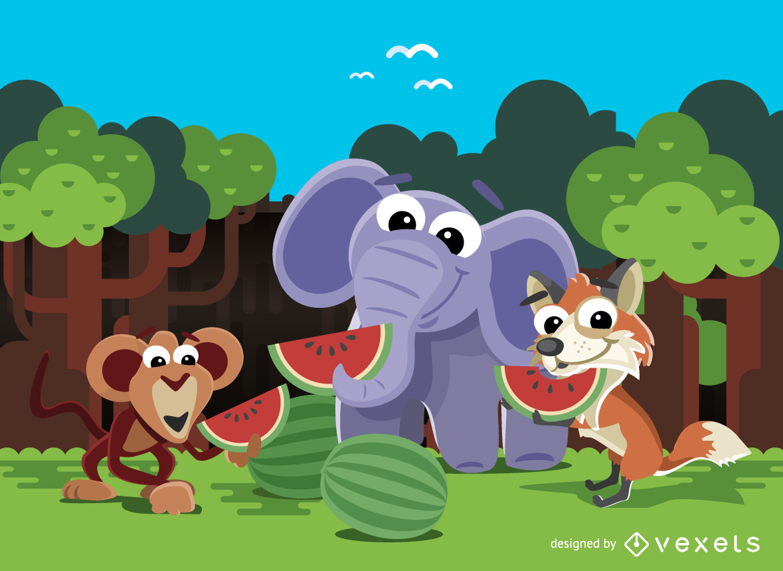 Cute Animal Life Theme Ltagt
